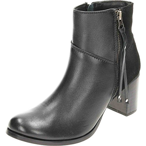 Ankle Wide Comfort Boots Plus Heeled Leather Fit Suede Black nanwUgSq