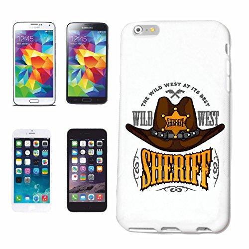 """cas de téléphone iPhone 6S """"Cowboys du Far West SHERIFF INDIENS WESTERN INDIAN Red Chief WESTERN INDIENS"""" Hard Case Cover Téléphone Covers Smart Cover pour Apple iPhone en blanc"""