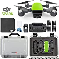 DJI Spark + Custom Nanuk Waterproof Travel Case - Meadow Green - Silver Case