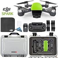 DJI Spark + Custom Nanuk Waterproof Travel Case - Meadow Green - Silver Case