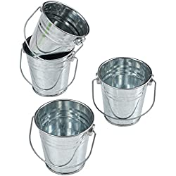 GiftExpress Mini Metal Buckets Party Favor Wedding Favor/Succulent Wedding Buckets/Mini Plant Containers/Tin Party Pail Containers (48-Count)