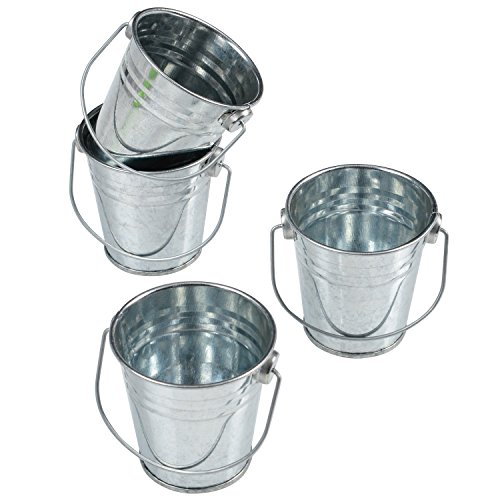 GiftExpress Mini Metal Buckets Party Favor Wedding Favor/Succulent Wedding Buckets/Mini Plant Containers/Tin Party Pail Containers (48-Count) -