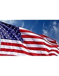 U.S. American Flag 3\'x5\' + FREE Affiche. Made in USA. Bundl...