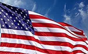 A Flag for the Fallen U.S. American Flag Plus Free Affiche Bundle Made in USA, Embroidered Stars Sewn Stripes, Sturdy Brass Grommets, Premium Nylon, 30% of Proceeds Donated to Families of Fallen Officers