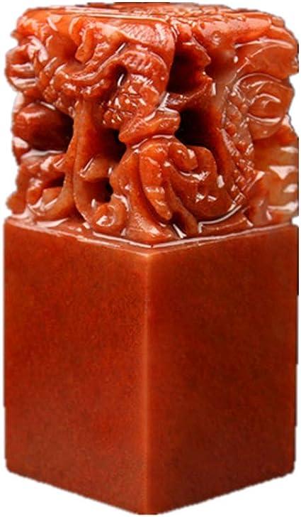 Sigillo cinese personalizzabile con nome cinese e incisione di drago