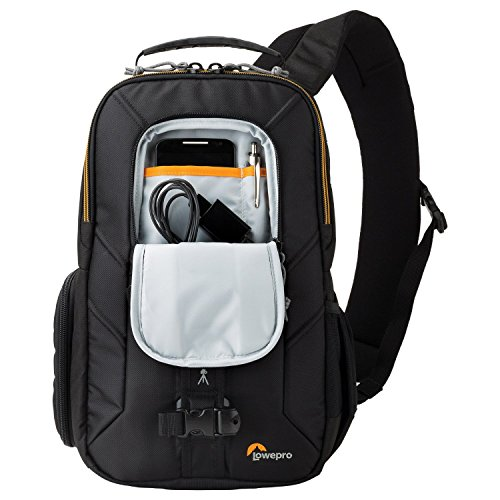 Securely stash your equipment with this camera sling bag.
