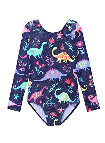 Toddler girl leotard gymnastics 2t 3t long sleeve dinosaur bodysuits outfits unitard (Leotard Gymnastic For Girls)