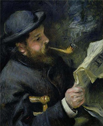 - The Polyster Canvas Of Oil Painting 'Claude Monet Reading, 1872 By Pierre Auguste Renoir' ,size: 20x24 Inch / 51x62 Cm ,this High Definition Art Decorative Prints On Canvas Is Fit For Home Theater Decoration And Home Decor And Gifts