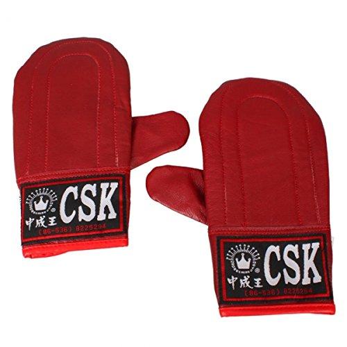 Practical Straight Sandbag Gloves Boxing Training Sparring Gloves Red for Men 24000044