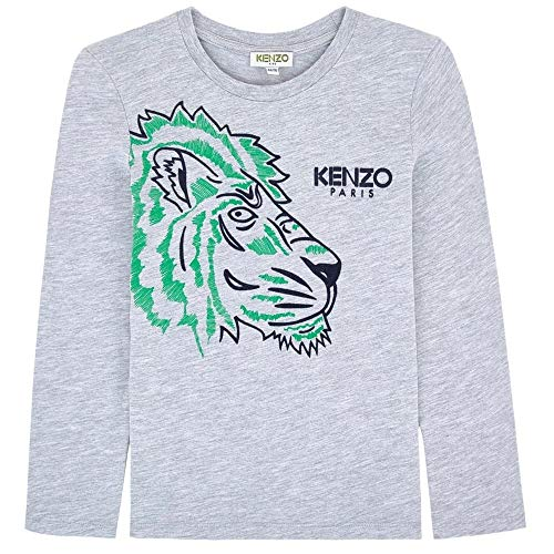 4b0c74d8 Kenzo Kids Long Sleeve Green Tiger T-Shirt Grey 16 Years Grey