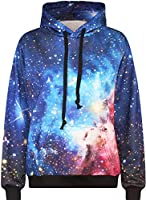 Imilan Neon Galaxy Sweatshirt Hoodies Printed Jacket
