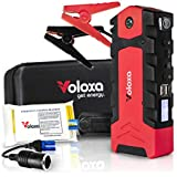 Portable Car Jump Starter Booster Battery Charger- NEW 2019- Super Safe 15000 mAh 600A Peak, with Smart Charging Port- Special Bonus Emergency Thermal Blanket & Cigarette Lighter Adapter- by Voloxa