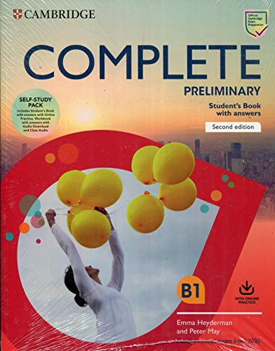 Complete Preliminary Self Study Pack (SB w Answers w Online Practice and WB w Answers w Audio Download and Class Audio): For the Revised Exam from 2020 por Peter May,Emma Heyderman