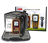 VETUS INSTRUMENTS GM8901 Digital Anemometer Thermometer Wind Speed Gauge Professional Air Velocity Flow Volume Meter With Temperature Anemometer 45ms 88MPH Electronic Hand-held Wind Speed Gauge Meter