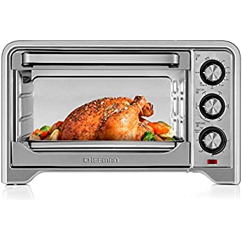 Chefman Toaster Oven, Countertop Convection Stainless Steel Oven w/ Variable Temperature Control; X