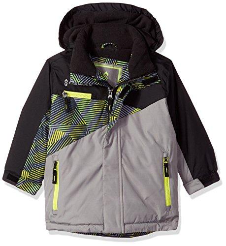 Free Country Little Boys Asymmetrical Snowboard Jacket, Concrete, M(5/6)