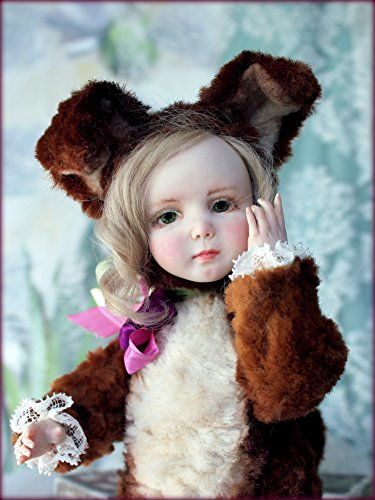 Handmade OOAK Style Teddy Doll Sweet Tooth Puppy Artist Sculpted Living Doll