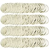 AMUU Rubber Bands size16 White 500pcs #16 Small Rubber Band for Office Supplies Money School Home Elastic Hair Band 38mm Rubber Bands
