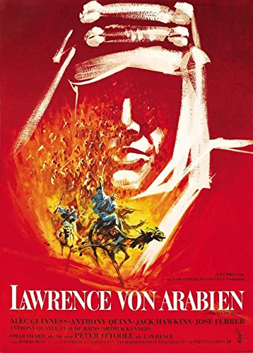 Lawrence of Arabia Poster German Peter O'Toole Omar Sharif Anthony Quinn