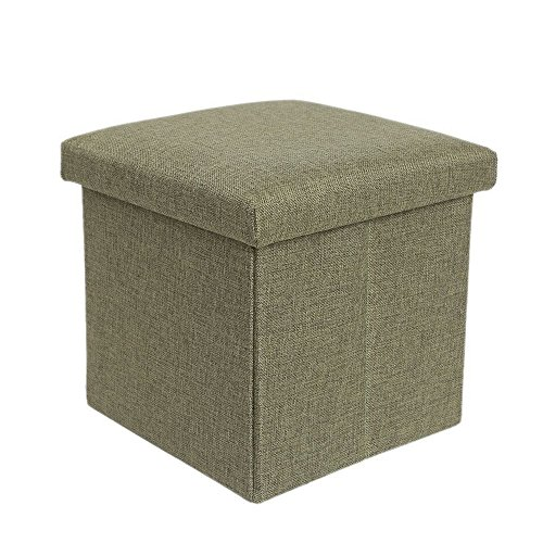 Foot Stools and Ottomans Small Linen Folding Organizer Storage Ottoman Bench Footrest Stool Coffee Table Cube, Camping Fishing Stool, Easy Assembly, Perfect for Child. 12
