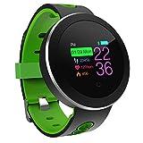 LJXAN Fitness Activity Tracker Heart Rate Blood Pressure Blood Oxygen Multi-Motion Mode Outdoor Sports Step Bluetooth Watch,Green