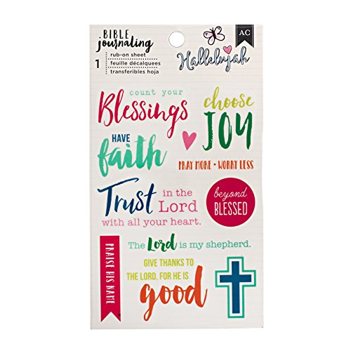 American Crafts Blessing Rub-on Bible (Rub Ons Journaling)
