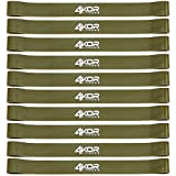 1-inch Loop Band Set of 10 by 4KOR Fitness (10-pack Tan/Heavy) For Sale