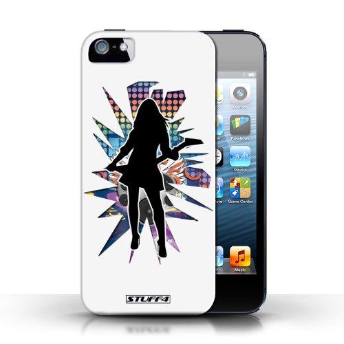 Etui / Coque pour Apple iPhone 5/5S / Rock Dame Blanc conception / Collection de Rock Star Pose