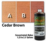 Semi-Transparent Water Reducible Concentrate (WRC) Concrete Stain -Cedar Brown 32 ounce Concrete Resurrection