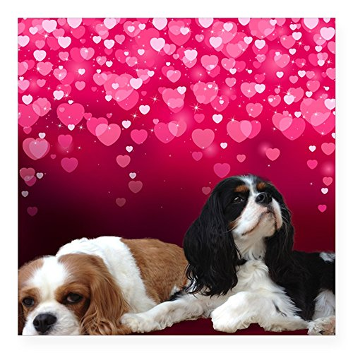 - CafePress Cavalier King Charles Spani Square Sticker 3