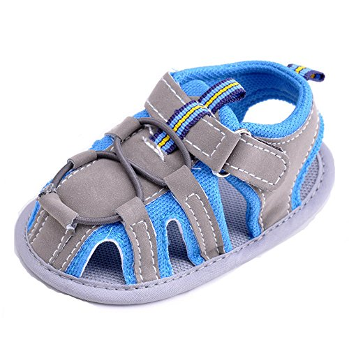 Estamico bebé niños sandalias verano niño Mocasín azul