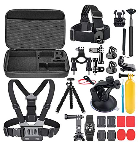 AIRON Action Camera Accessories Kit Compatible with Gopro 7 6 5 4 3 2 Any Action Camera