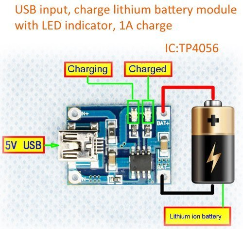 Amazon smakn 5v lithium battery charging tp4056 board 5 volt amazon smakn 5v lithium battery charging tp4056 board 5 volt mini usb 1a charger module diy home audio theater ccuart Image collections
