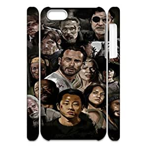 Walking Dead TY5080822 3D Art Print Design Phone Back Case Customized Hard Shell Protection Iphone 5C
