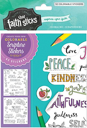 Galatians 5:22-23 Colorable Stickers (Faith That Sticks -
