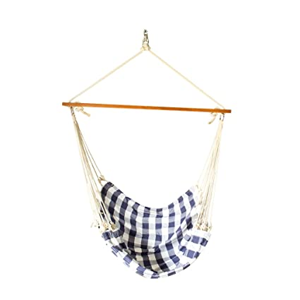 Slack Jack Fabric Swing (Blue and White)
