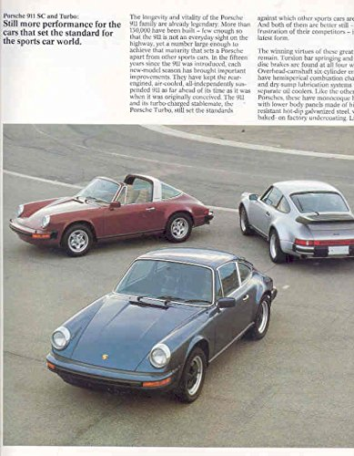 Amazon.com: 1978 Porsche 911 911SC 930 Turbo 928 924 Brochure: Entertainment Collectibles