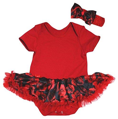 Petitebella Bébé Thème De Jour De La Mère Des Filles Robe De Coton Uni Noir Justaucorps Rose Rouge