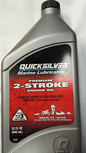 Mercury Quicksilver Premium 2 Cycle 2 Stroke Outboard Oil 32oz - Mercury 2 Cycle Oil