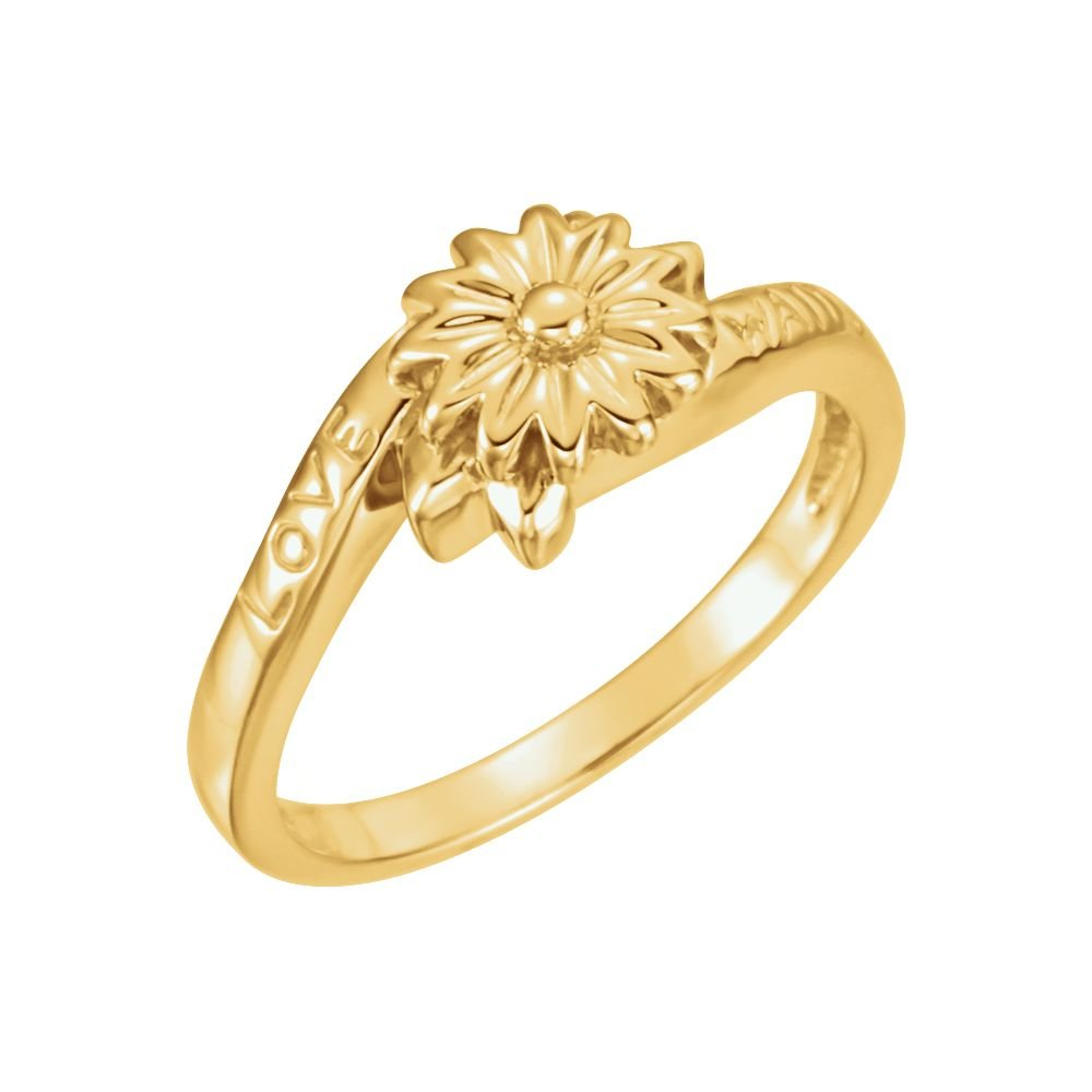 10k Yellow Gold Love Waits Chastity Ring without Packaging - Size 6