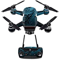 Skin for DJI Spark Mini Drone Combo - Blue Storm| MightySkins Protective, Durable, and Unique Vinyl Decal wrap cover | Easy To Apply, Remove, and Change Styles | Made in the USA