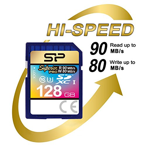 Silicon Power 128GB MLC High Endurance UHS-1 U3 Superior Pro SDXC Memory Card Up To 90MB/s (SP128GBSDXCU3V10) by Silicon Power (Image #2)