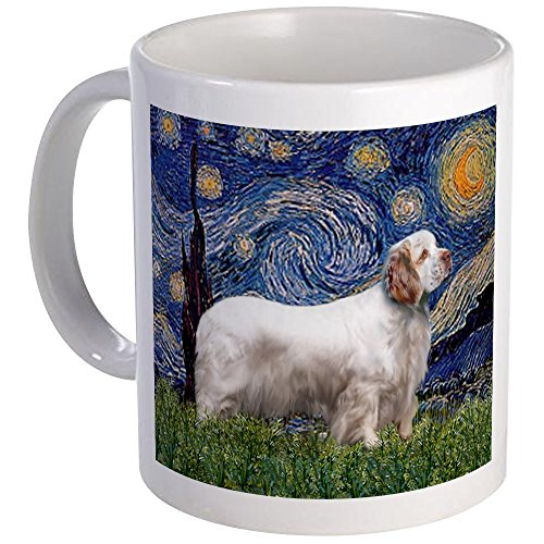 CafePress - Starry Night Clumber Spaniel Mug - Unique Coffee Mug, Coffee Cup