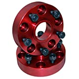 """Rugged Ridge 11300 Alloy USA Red 1.5"""" Thick 5-on-5 Bolt Pattern Wheel Spacer - Pair"""