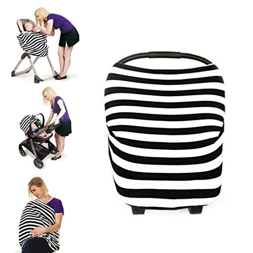 Kyapoo Nursing Cover Breastfeeding Cover Scarf Muti-Use for Baby Car Seat Cover - Timing Infinity Cover
