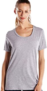 product image for US Blanks US115 Women's' Short-Sleeve Loose Fit Boyfriend Tee Heather Grey XL