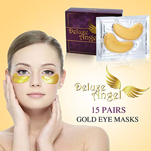 Anti-Aging, Anti-puffiness, Soothing, Firming, Moisturizing, 24K GOLD COLLAGEN Eye Treatment Mask by Deluxe Angel