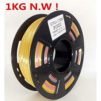 stronghero3d FDM impresora 3d pla filamento 1.75 mm Multicolor gradiente Rainbow 1 kg (2.2lb) precisión 0,05 mm