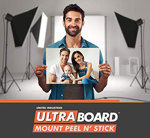 """UltraBoard Mount Peel N' Stick - 3/16"""" Thick Self-Stick Adhesive Foam Core Mount Board or Mat Backer for Photo Mounting (24 Pack) (Black, 8"""" x 10"""") from Ultra Board"""