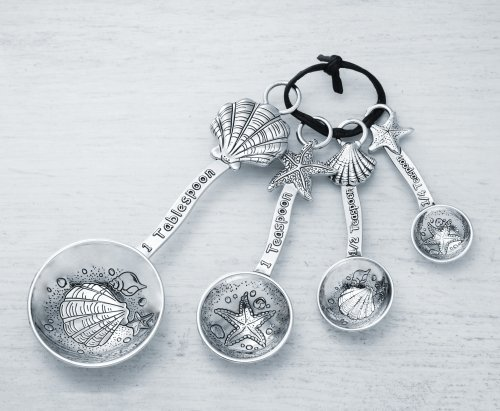 Ganz 4-Piece Measuring Spoons Set, Clam Shell/Starfish by Ganz
